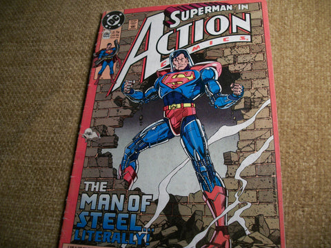 DC Comic Book The Man of Steel SUPERMAN Superhero Action  Collectible Magazine Nov 1990 No 659 Action SciFi Fantasy Man Cave Decor