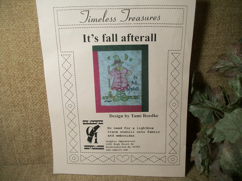 Witch Stencil for Paper Wood and Fabric CraftsWhimsical  Fall Halloween Pattern by Timeless Treasures DIY Supply