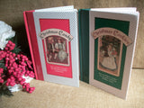 Cookbooks Christmas Candy and Christmas Cookies Pair of Vintage Holiday Recipe Books Old World Illustrations