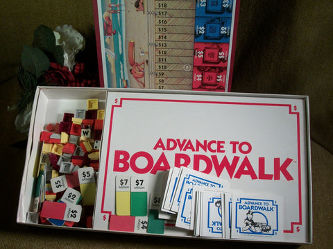 Advance to Boardwalk Property Monopoly Game by Parker Brothers Vintage 1985 Complete Set in Original Box Family Game Night Fun