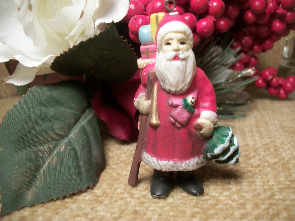 traditional old world woodland santa claus christmas tree ornament