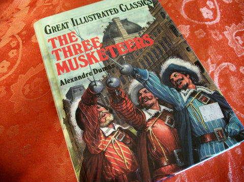 The Three Musketeers by Alexandre Dumas Great Illustrated Classics Hardback Illustrated Book Vintage 1990