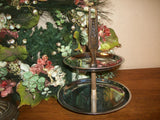 Tiered Serving Tray by Kromex Vintage Mad Men Chrome Table Accessory Holiday Entertaining Serving Tiers