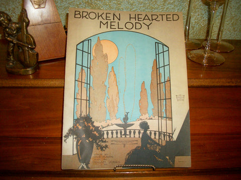Broken Hearted Melody Antique Sheet Music Vocal Piano Love Song Vintage 1922 Foster Music Publishers