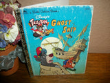 Disney's Talespin Ghost Ship Children's Story Book Pirate Sunken Boat Island Adventure Vintage Little Golden Book