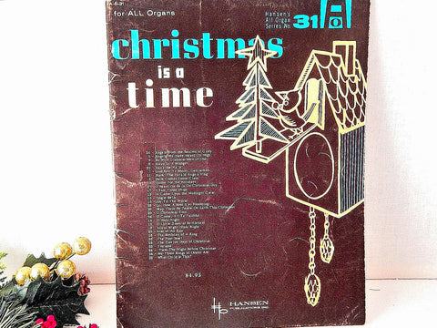 Christmas is a Time Keyboard Music Vintage 1962 Christmas Songs with  Lyrics and Chords