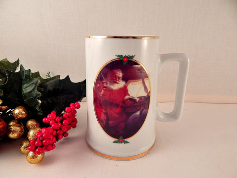 Coca Cola Christmas Mug Haddon Sundholm Original Coke Santa Claus Christmas Beverage Serving Stoneware Coffee Tea Cocoa Cup