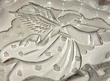 Angel Candy Dish Clear and Frosted Glass Serving Tray Vintage Christmas Tableware