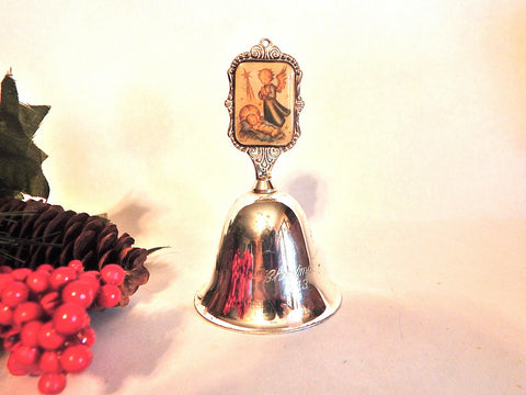 Angel Bell Vintage Hummel Silver Plated Prayer of Adoration Nativity Scene Christmas Collectible1983 ARS Limited Edition
