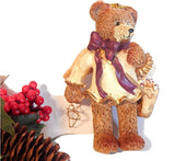 Angel Bear Christmas Decoration Textured Resin Whimsical Angel  Old Fashioned Brown Teddy Bear Collectible Holiday Home Decor