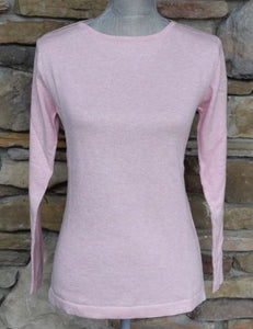Pima Cotton Boatneck Sweater Oleander