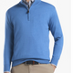 Merino Silk 1/4 Zip Sweater Cape Blue