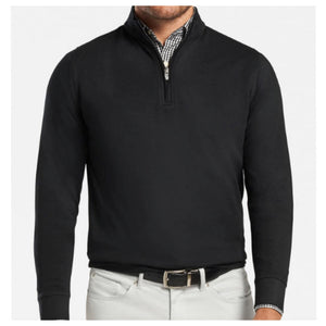 Cotton Modal 1/4 Zip Pullover Black
