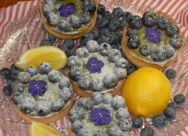 Blueberry Lemon Curd Tart
