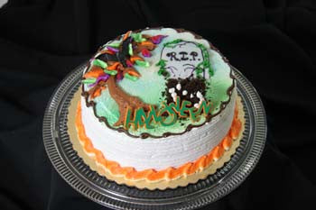 Halloween Layer Cake - Reinwald's Bakery