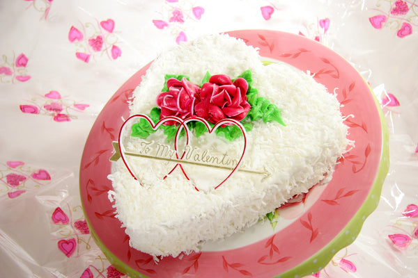 Lemon Coconut Heart Cake - Reinwald's Bakery