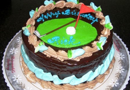 Golf Birthday Cake (B14) - Reinwald's Bakery