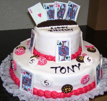 Tiered Poker Cake (TB2) - Reinwald's Bakery
