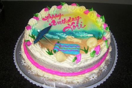 Beach Birthday Cake (B17) - Reinwald's Bakery - 2