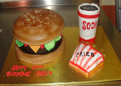 Burger & Fries Cake - Reinwald's Bakery