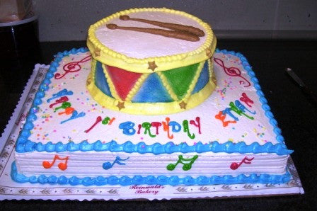 Drum Sheet Cake - Reinwald's Bakery
