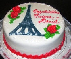 Eiffel Tower Birthday Cake (B21) - Reinwald's Bakery