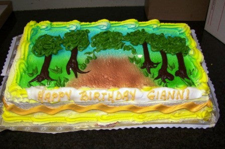 Tree Lined Road Cake (B30) - Reinwald's Bakery