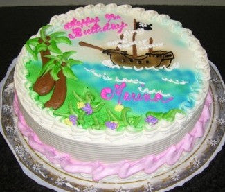 Pirate Ship Birthday Cake (B46) - Reinwald's Bakery