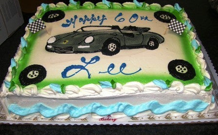 Sports Car Sheet Cake (B25) - Reinwald's Bakery