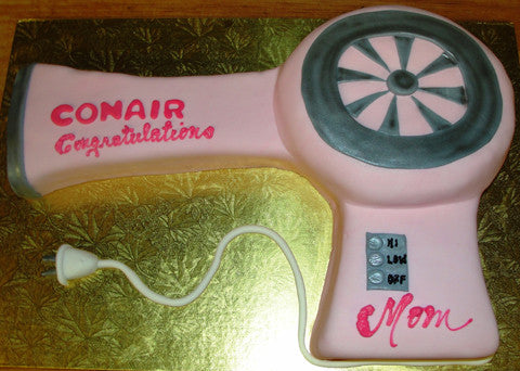 Hair Dryer Cake - Reinwald's Bakery
