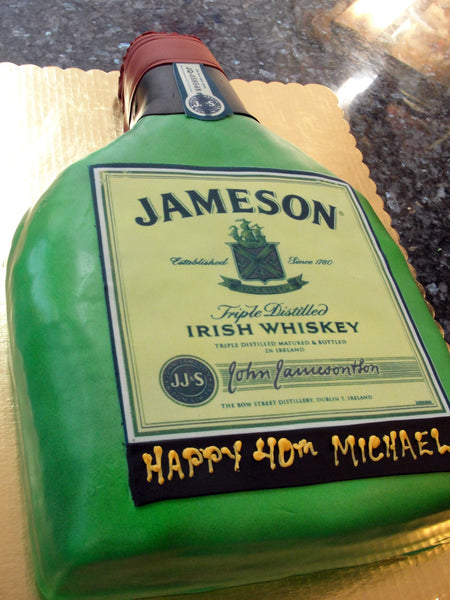 Whiskey Bottle Cake - Reinwald's Bakery
