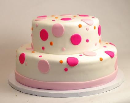 Polka Dots Tiered Cake (TB16) - Reinwald's Bakery