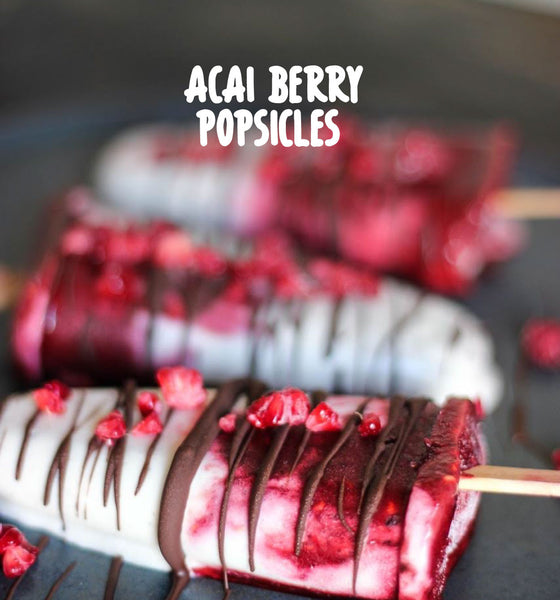 Acai Berry, Coconut & Banana Popsicles
