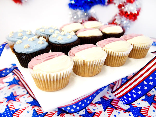 July 4th Flag Cup Cake