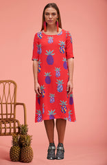 Red Pineapple Grace Dress