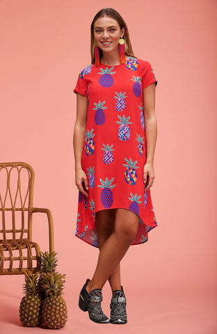 Red Pineapple Trixie Dress