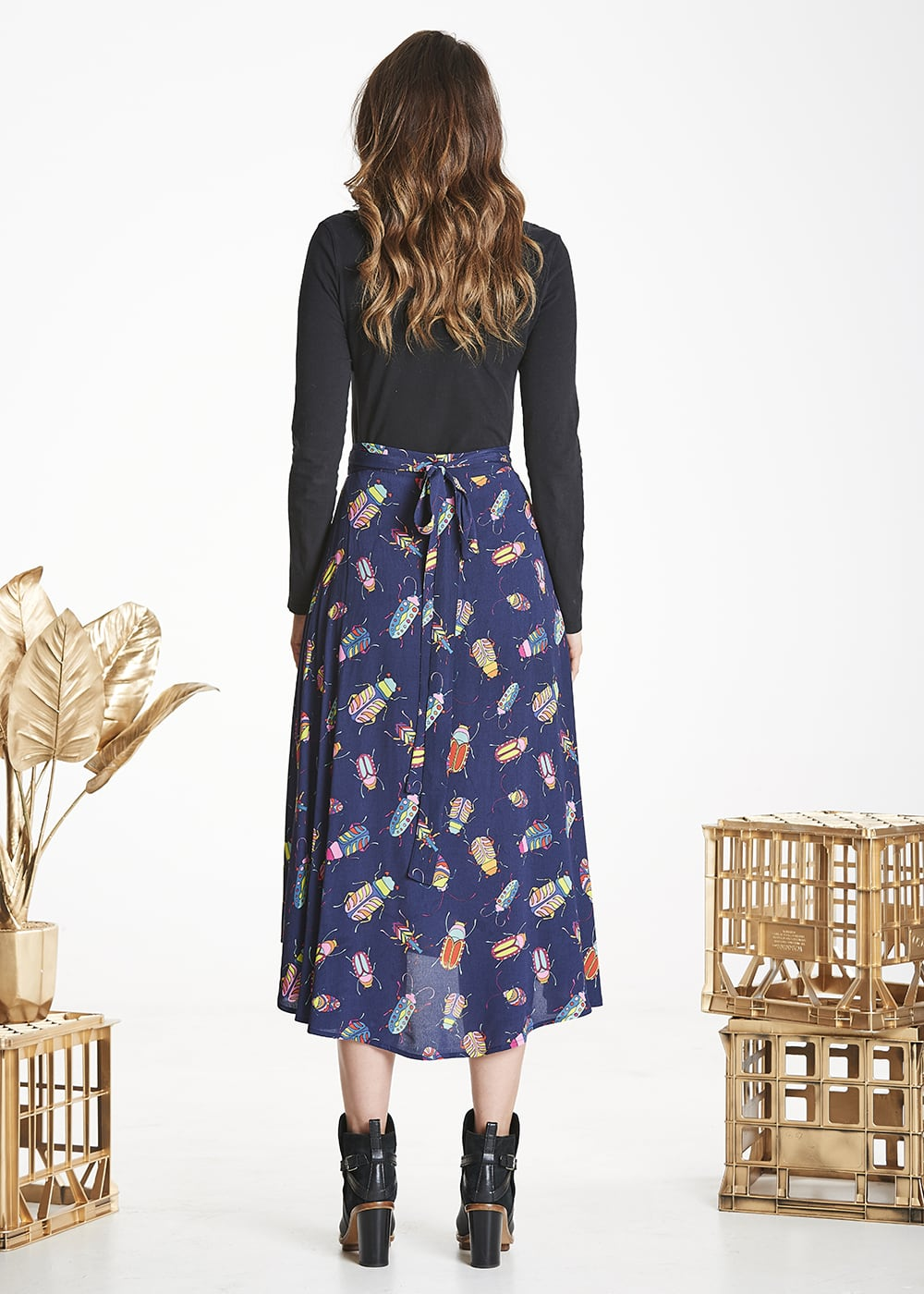 Navy Bug Luna Skirt
