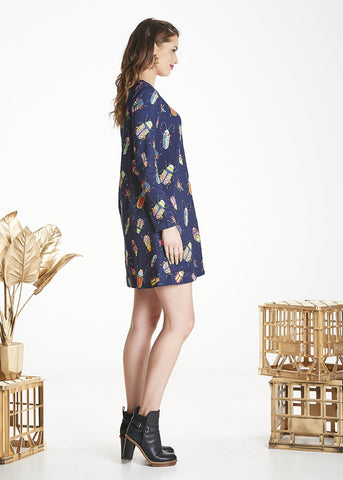 Navy Bug Zephyr Dress