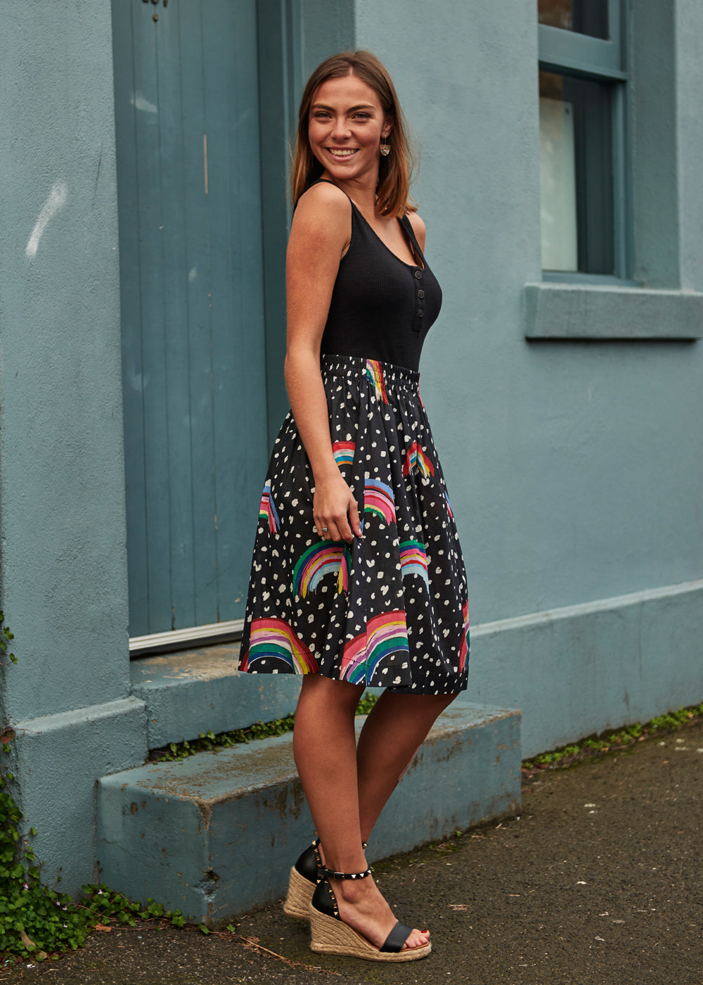 Rainbow Poppy Skirt