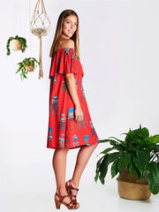 Red Jellyfish Jagger Dress