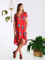 Red Jellyfish Trixie Dress