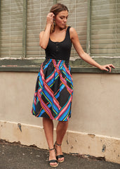 Stripe Poppy Skirt