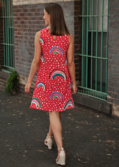 Red Rainbow Ruby Dress