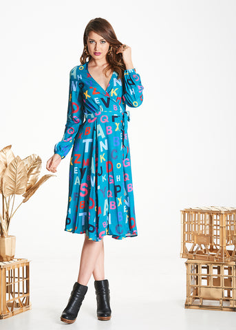 Alpha Mabel Wrap Dress