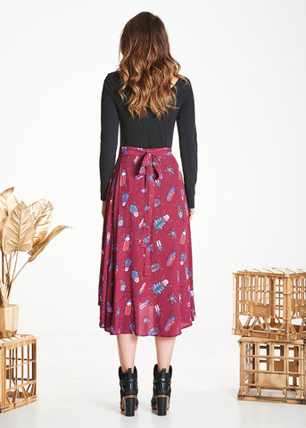 Burgundy Bugs Luna Skirt