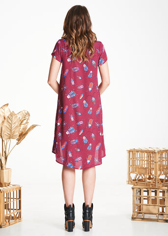 Burgundy Bugs Trixie Dress