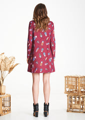 Burgundy Bugs Zephyr Dress