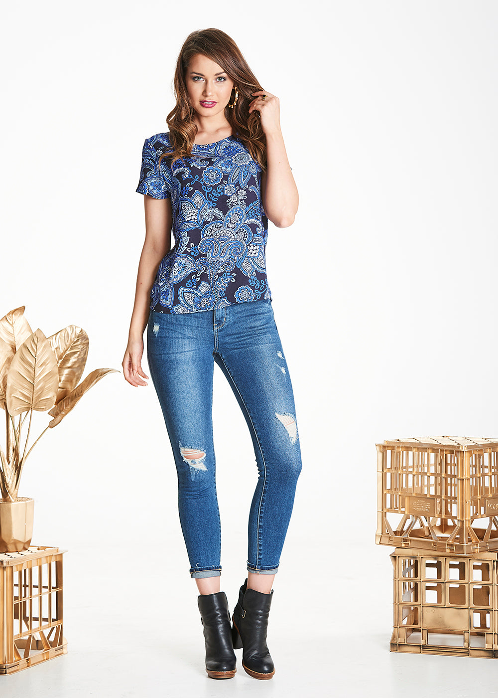Paisley Harvest Top
