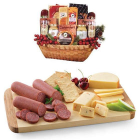 GIVOPOLY Food Cheese and Deli Gift Basket