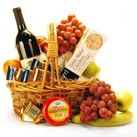 GIVOPOLY Food Cheese, Wine and Fruit Gourmet Basket